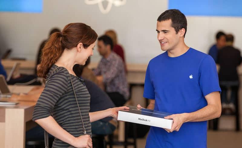 Experiência de retirada na loja da Apple
