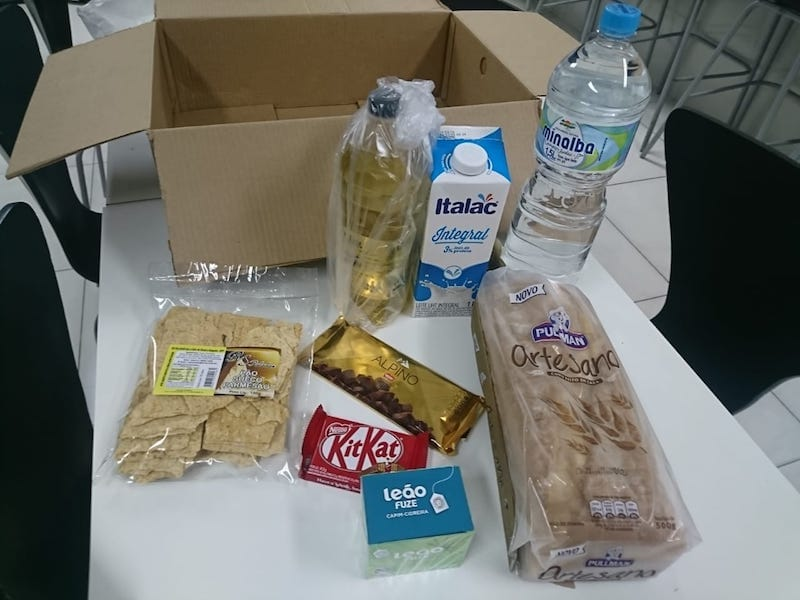Embalagem de alimentos do Mambo