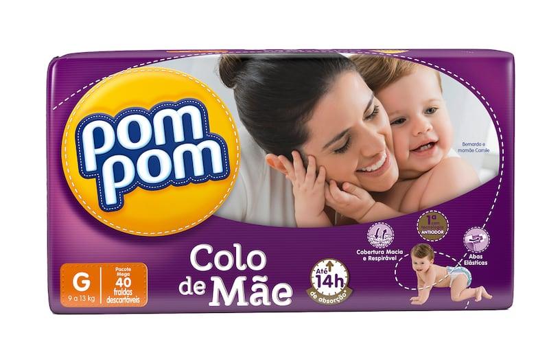 Fralda PomPom Colo de Mãe